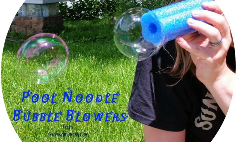 Looking for a fun way to blow bubbles this summer? Try these awesome Pool Noodle Bubble Blowers!