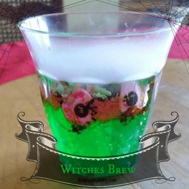 A spooky, yet tasty cauldron of Witches Brew! A fun snack for kids of all ages!