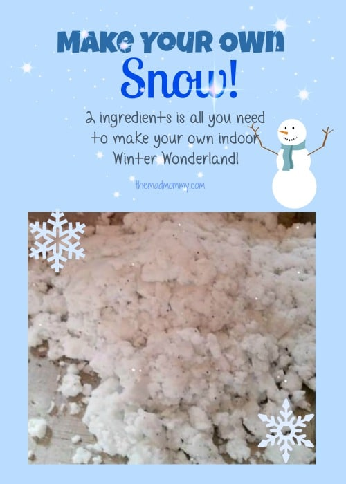 make your own snow themadmommy.com