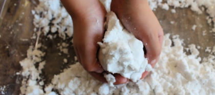 Enjoy playing with snow year-round when you make your own snow. It's a simple, fun project that kids will enjoy and you only need 2 ingredients!