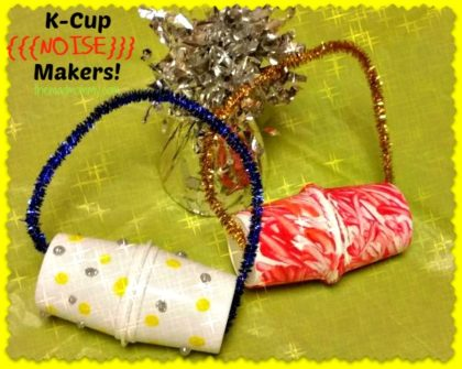 used k-cup noise makers from themadmommy.com