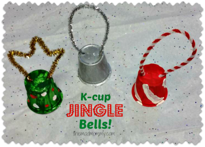 What can you do will all of your used k-cups? I want to find out! The first thing I made were these used k-cup jingle bells!