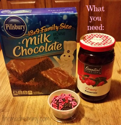 ingredients for the brownie recipe themadmommy.com