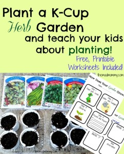 Re-use your kcups and plant an herb garden! You can even use the coffee grounds in the soil!