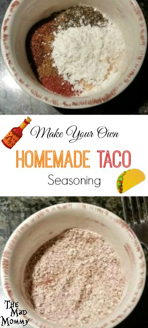 Making your own Homemade Taco Seasoning is quick, easy and actual tastes better than the store bought packets!