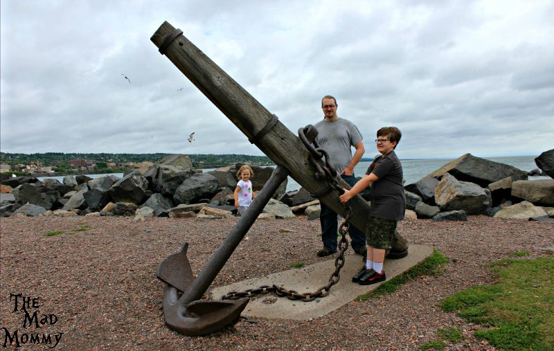 Pulling up anchor at Canal Park in Duluth