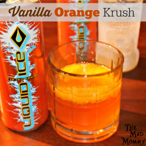 The Vanilla Orange Krush cocktail is made with mandarin oranges, vanilla vodka and Liquid Ice Orange Energy Drink!