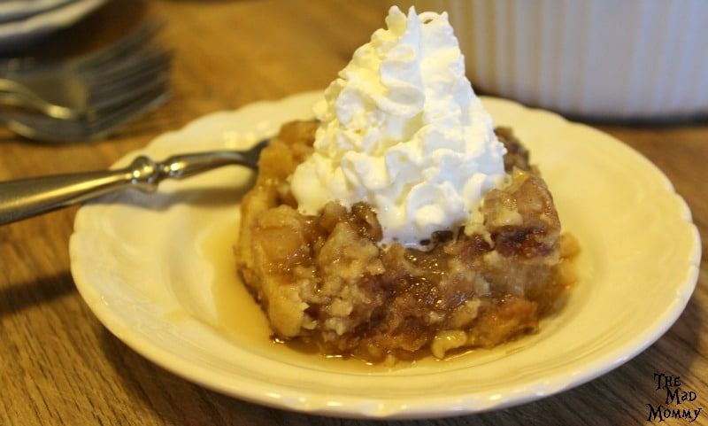 Warm Apple Pie Baked French Toast served with warm maple syrup and a dollop of Reddi-wip®! #ShareTheJoyOfPie #ad #CollectiveBias