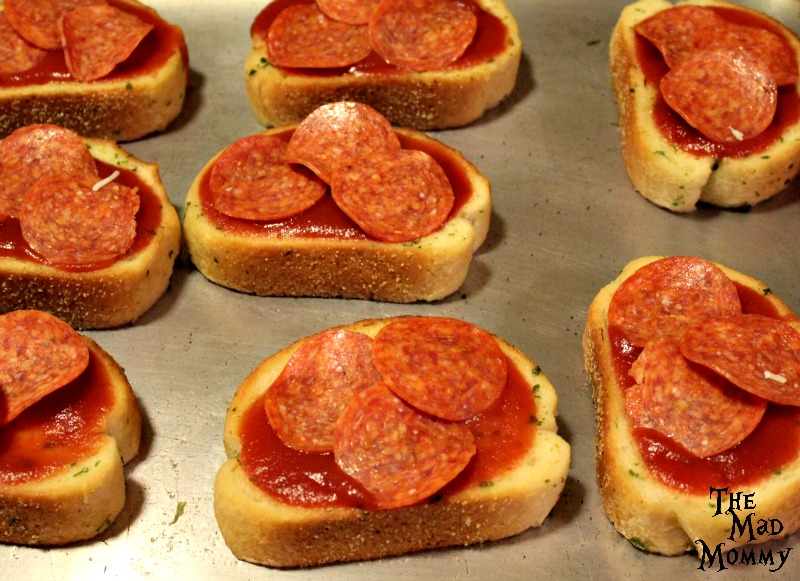 Step 3 of the Pepperoni Pizza Toast