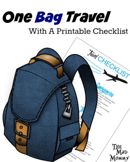 I travel with one backpack and it saves me a lot of money on luggage fees! Check out how I manage with my One Bag Travel Checklist Printable.
