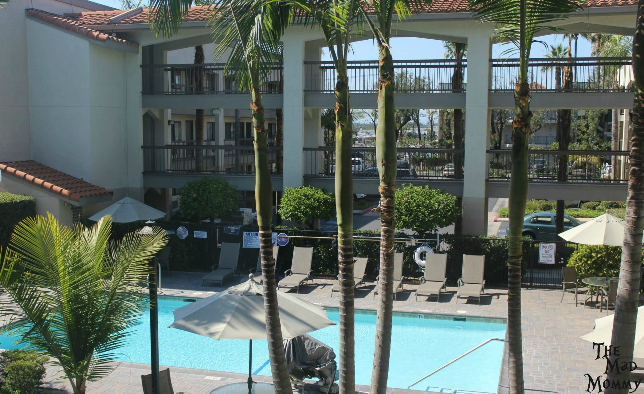 The view from our room at the Best Western Plus Orange County.