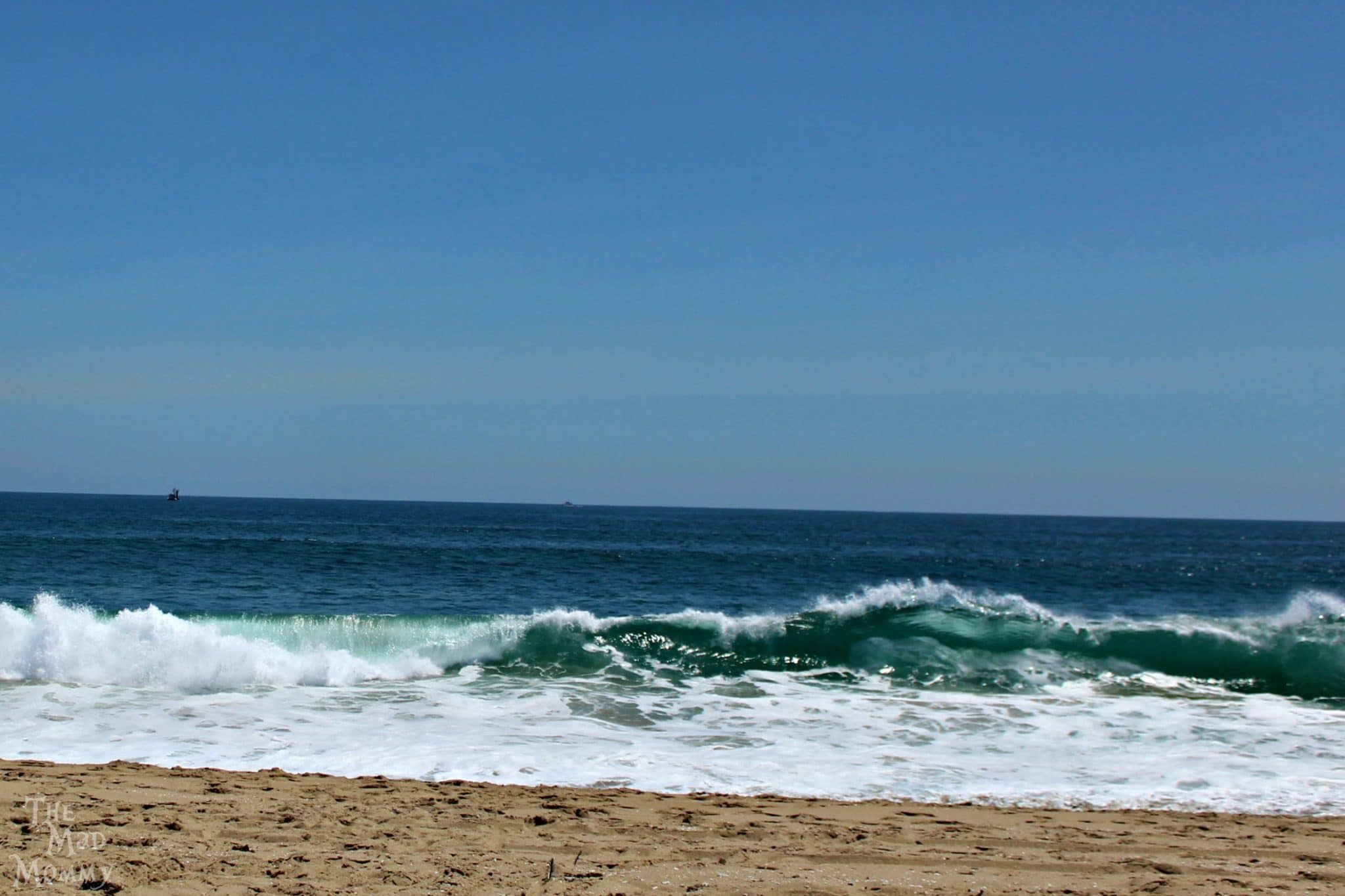 Watching the waves in Newport Beach, California is very peaceful and relaxing.