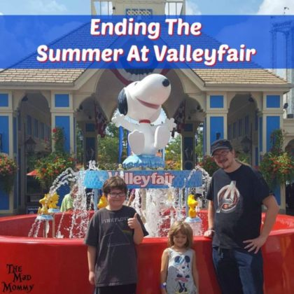 Summer has officially come to a close for us and as most of you are reading this, I will probably be driving my 5th grader to his first day of school! Can you believe that it is time for school to start already?! We decided to end summer with a bang by visiting our local amusement park in support of #ValleyfairCares. #VFBestDay #Spons