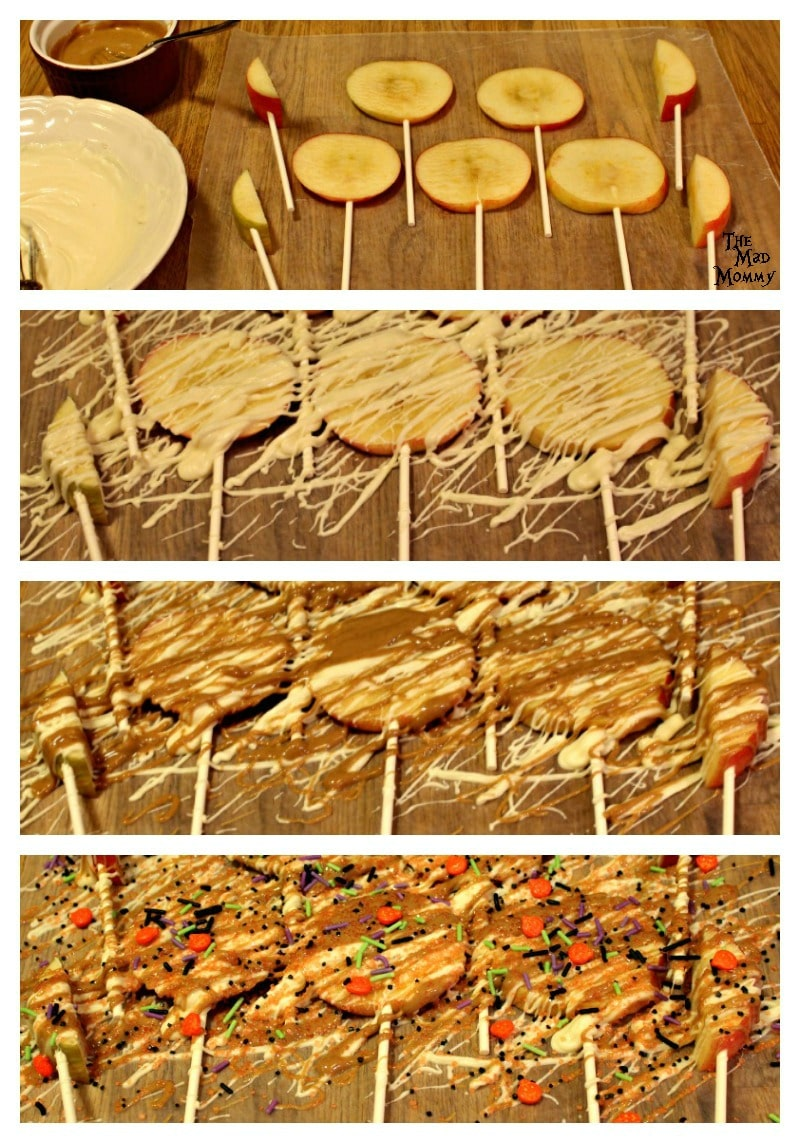 A step-by-step guide to making delicious Halloween Candy Apple Pops.