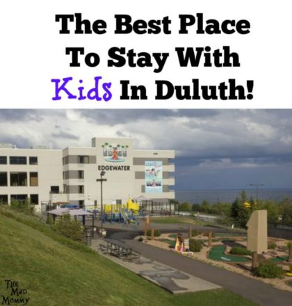 The Edgewater is the only hotel and waterpark in Duluth! It also happens to be right on the shores of Lake Superior, so it offers some of the prettiest views from rooms with semi-private balconies!