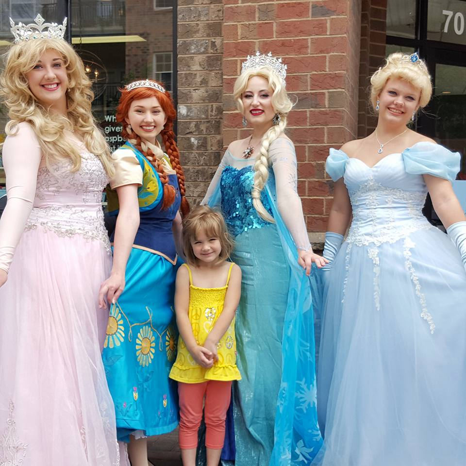 When your tiny princess gets to meet some Disney Princesses.