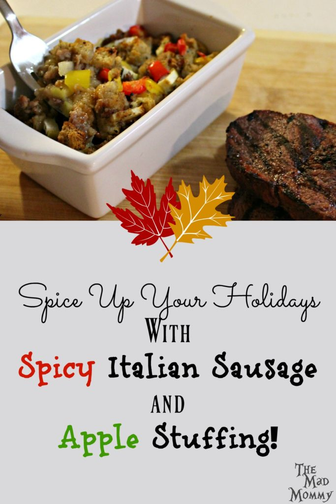 Spicy Italian Sausage and Apple Stuffing