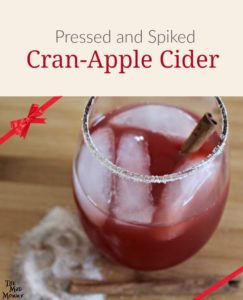 Cinnamon, sugar and apple cider are 3 of my FAVORITE holiday flavors! I drink apple cider every year. I like it hot. I like it cold. I like it pressed and I like it spiked. *wink wink* That is why I am sharing one of my favorite cocktail recipes with you! My Pressed and Spiked Cran-Apple Cider!