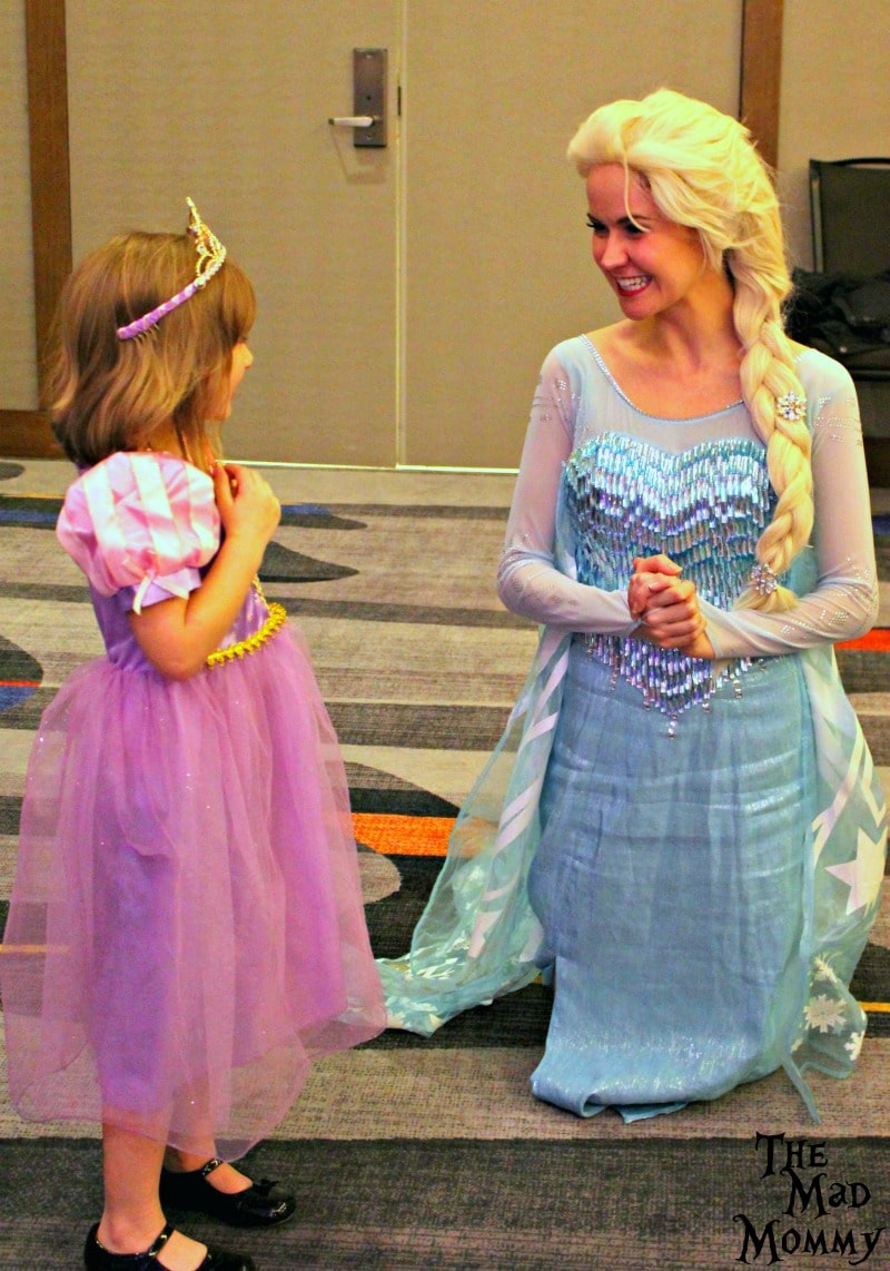 Meeting Elsa for the first time!