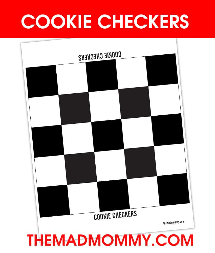 Cookie Checkers is a fun way to play a game and eat your winnings too!