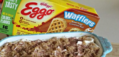 We eat Eggo Waffles, straight out of the toaster, for breakfast quite often, but I wanted to see if there was another way to use them. After thinking about it, while sipping my morning coffee, it hit me: Eggo Waffle Tiramisu!