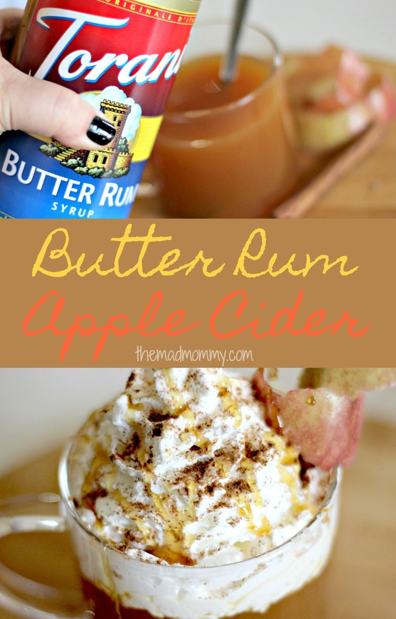 There is definitely a chill in the air and one of the best ways to warm up is with a cozy drink, like this Butter Rum Apple Cider recipe! It's warm, sweet, delicious and extremely comforting!