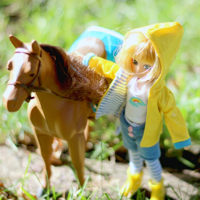 I have to say, the details on the Lottie Dolls and the pony are amazing!