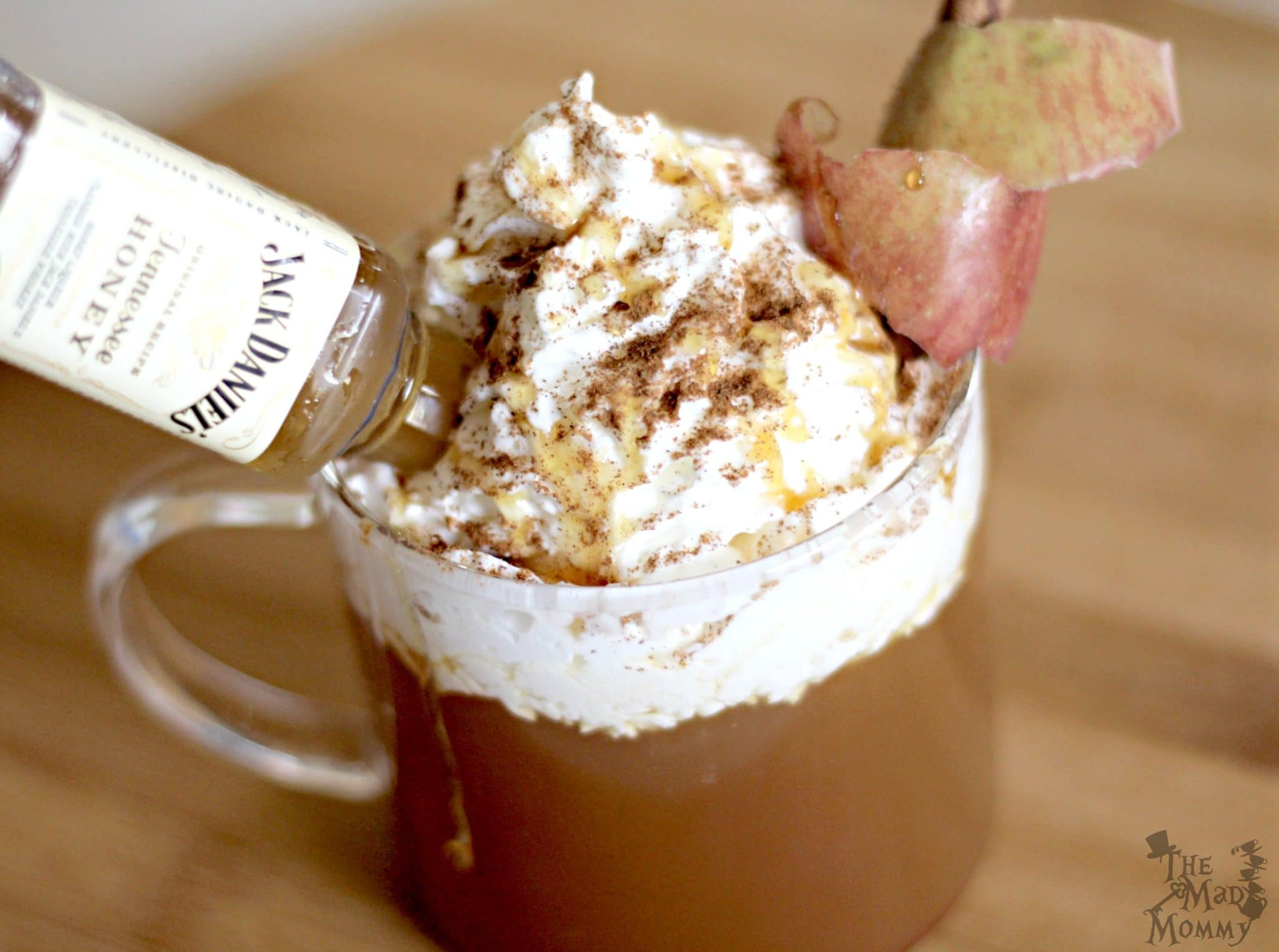 Looking for a little OOMPH in your Butter Rum Apple Cider? Well, spike it, baby! I suggest a shot of Jack Daniel's honey mixed in with the apple cider and Torani syrup!