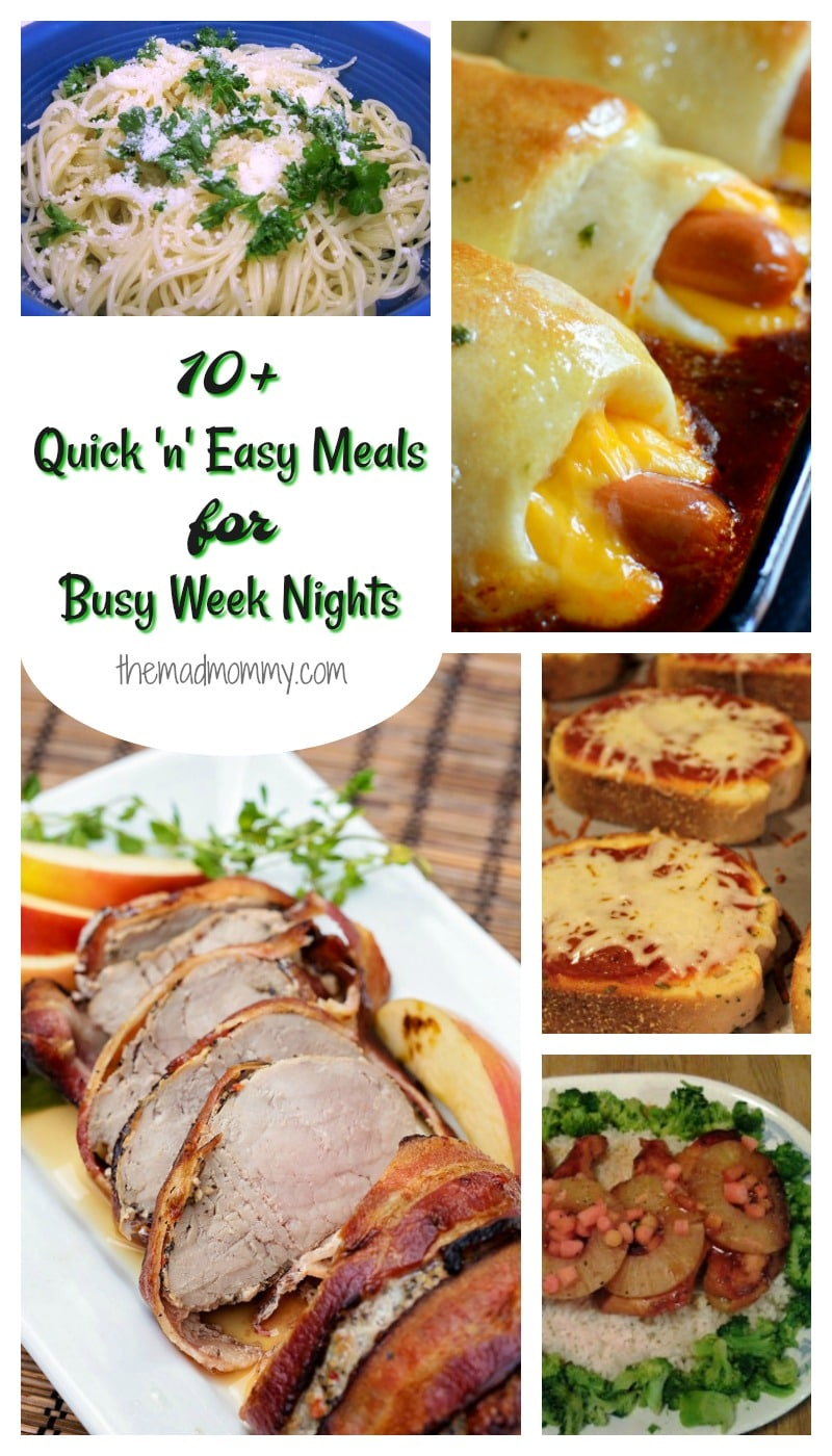 I know, during the week, I'm tired, my husband is tired and my kids are tired, so I like to plan super quick and easy meals for those busy week nights. Here are some of the recipes that I use ALL the time.
