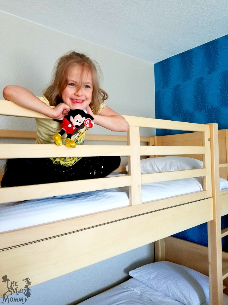 Bunk Beds in our room at the HoJo Anaheim.