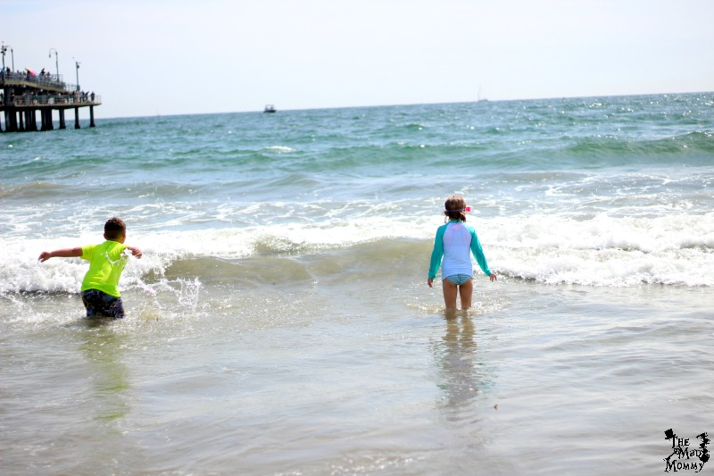 Cousins playing in the waves!