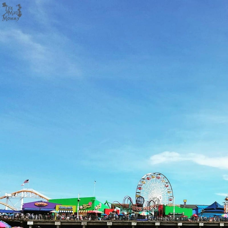 Hey, did you know that the famous Santa Monica Pier has an amusement park on the end of it?! It is called the Pacific Park and it looks pretty cool!