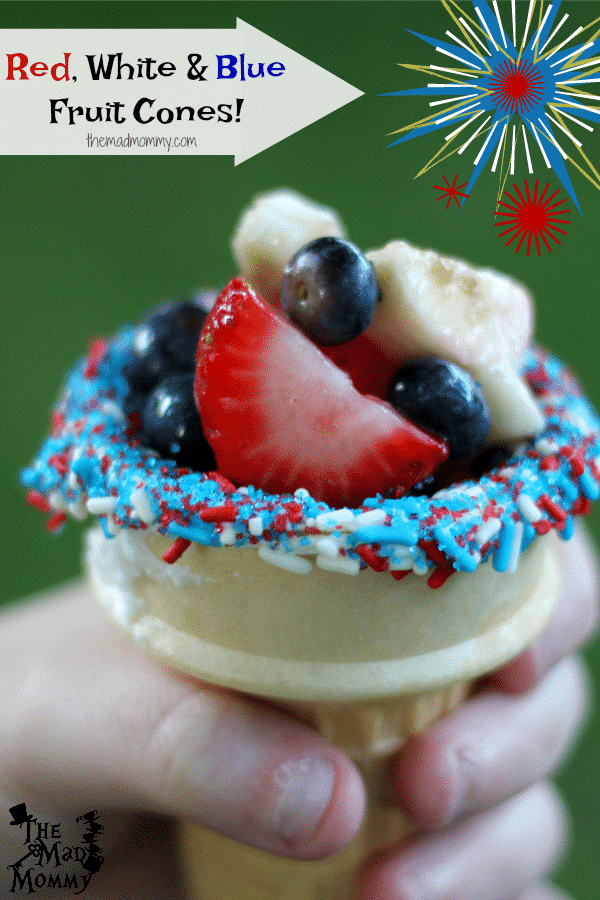 These Red, White and Blue Fruit Cones are the perfect, and reasonably healthy, summertime treat! However you choose to make them, I am sure your guests will LOVE them! These fruit cones are the perfect treat for any BBQ, family get-together or backyard birthday party!