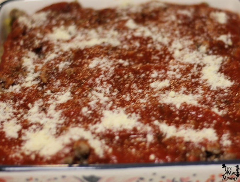Lazy Lasagna ready for the oven!