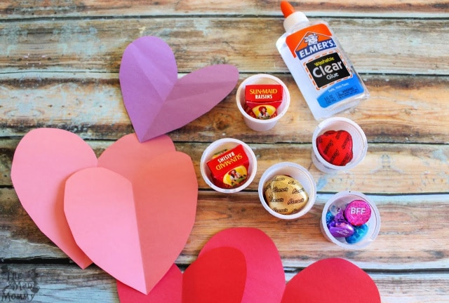 Assembling your own #DIY K-Cup Valentine Candy Critters.