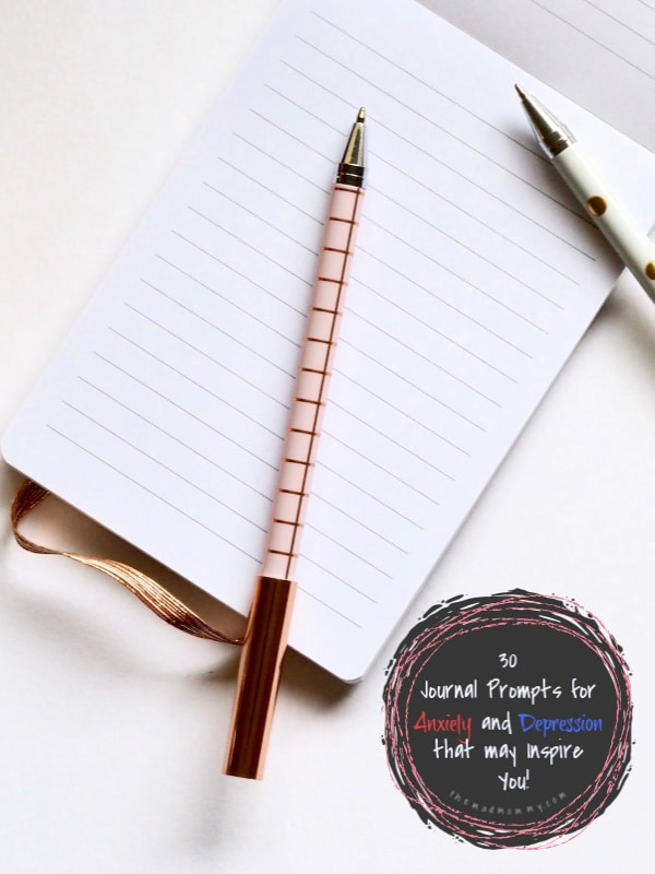 Journaling has many benefits, including easing your anxiety and depression. Putting your thoughts and feelings on paper removes them from your mind, in turn taking that weight off of your shoulders. If you aren't sure what to write about to reduce anxious or negative thoughts, these 30 journal prompts for anxiety and depression might inspire you!