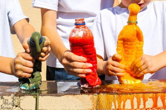 We have all made baking soda volcanoes at some point, am I right? Well, I think you should give our Kool Aid Vinegar Volcano recipe a try and see how cool these volcanic eruptions can be!