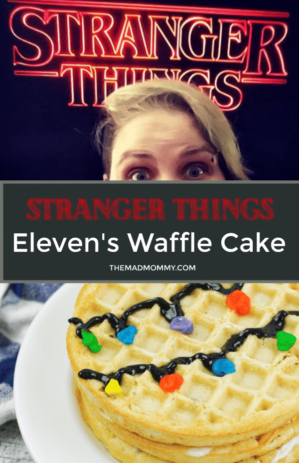 Have you been to the Upside Down? Were you part of the Will Byers search team? Do you know Eleven? Are your friends crazy? How excited are you for season 3 of Stranger Things?! If you are anything like me, you are totally stoked and can't wait! That is why I decided to celebrate the first trailers by making a Stranger Things inspired waffle cake. I am hoping that Eleven will approve!