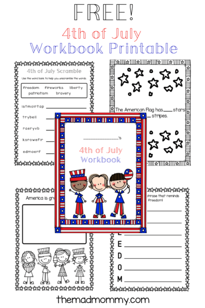 4th of july homeschool printable