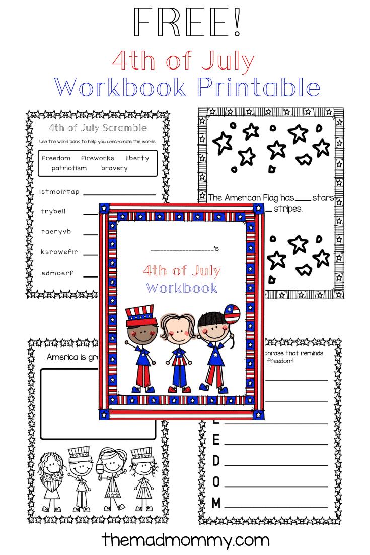 4th of july homeschool printable