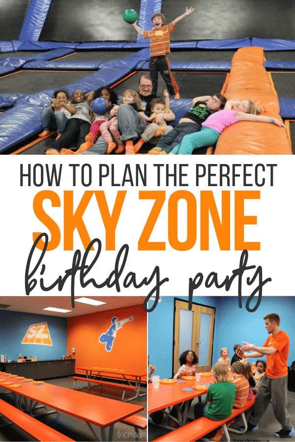 sky zone birthday party