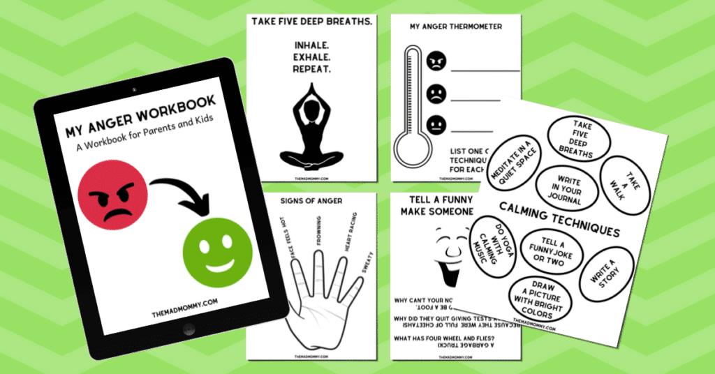 free anger management workbook for kids