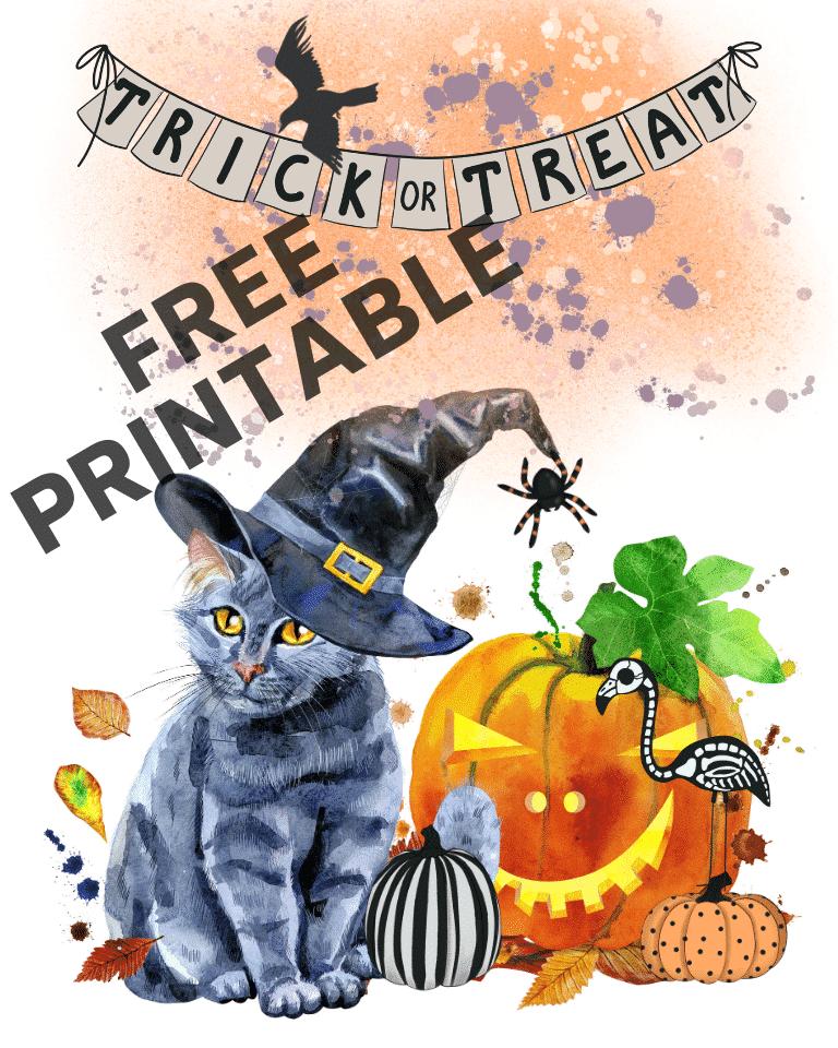 free halloween cat printable