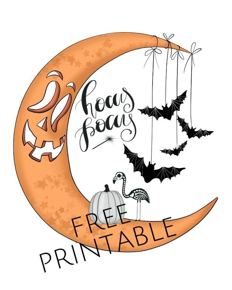 free halloween printable moon