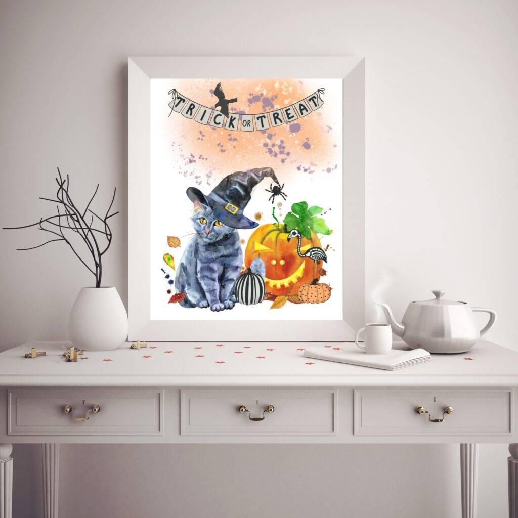 halloween free wall art