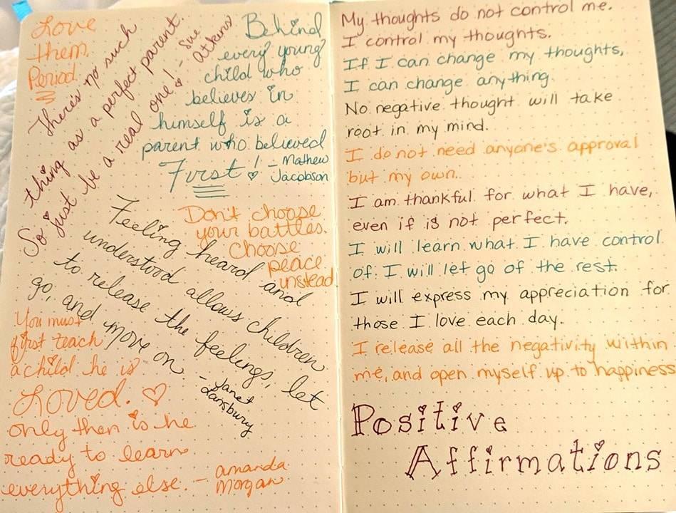 positive parenting bullet journal
