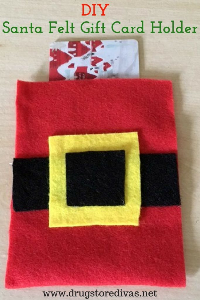 Santa Gift Card Holder Craft