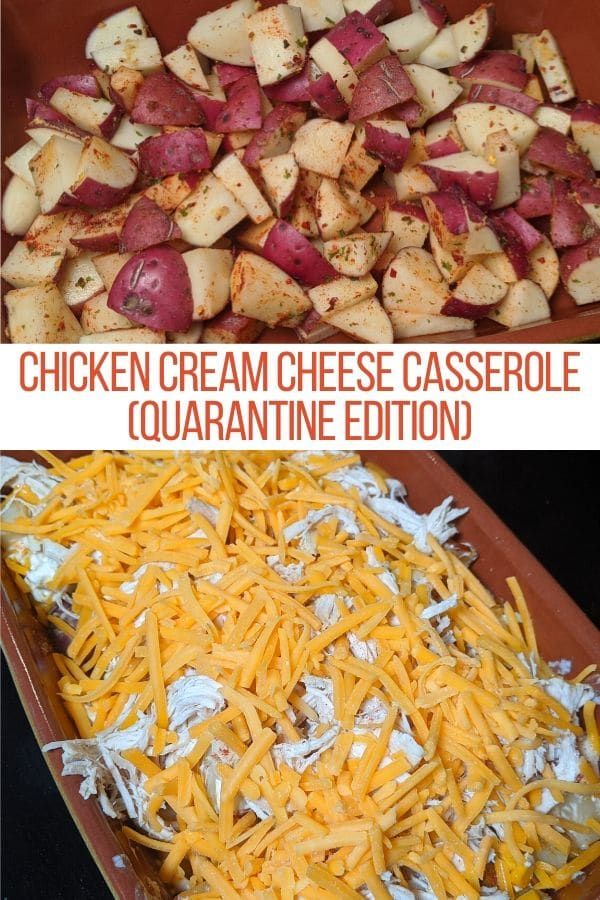 seasoned potatoes and cheesy chicken