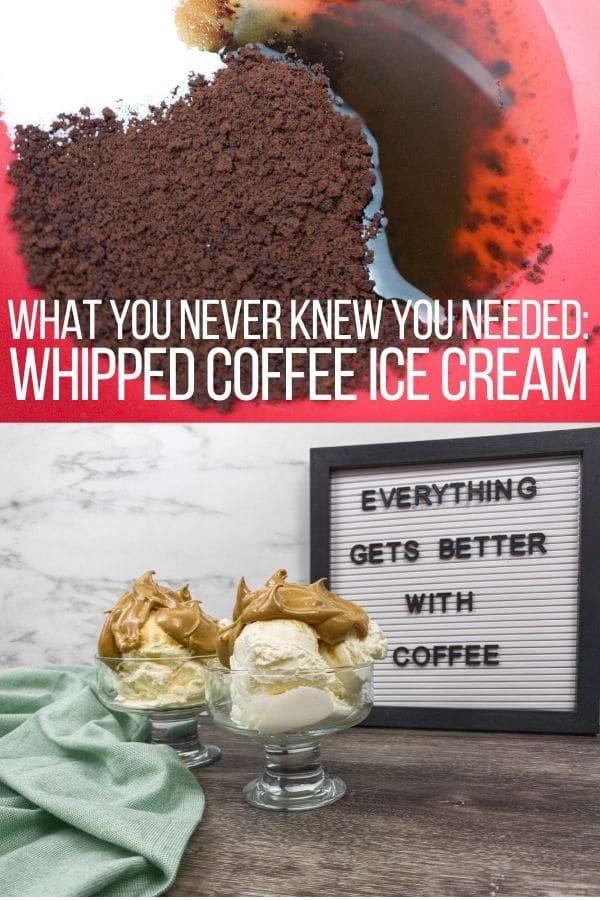 instant coffee and dalgona ice cream