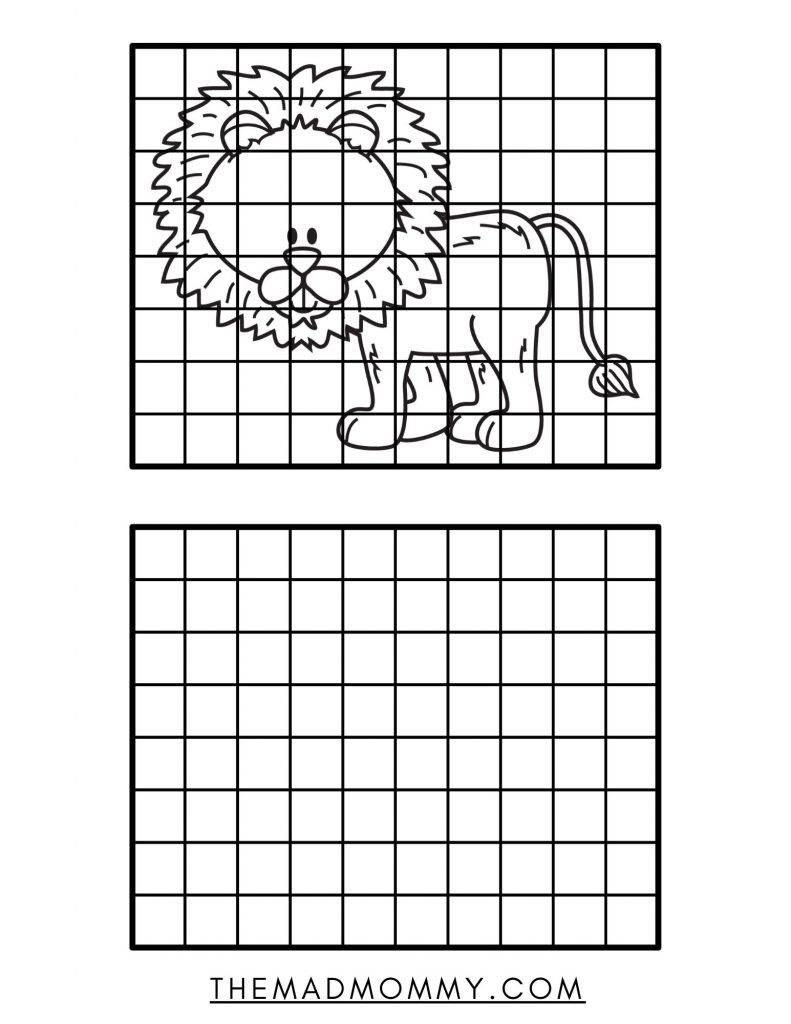 animal drawing grid